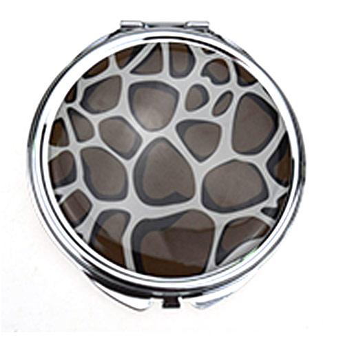 礼品随身镜定制 贴纸滴胶礼品镜生产