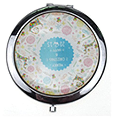 促销礼品随身镜 时尚圆形金属礼品镜