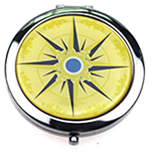 化妆礼品化妆镜  滴胶金属折叠圆形镜