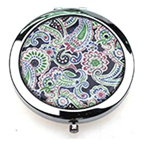 礼品随身镜生产  不锈铁贴纸化妆镜  出口环保