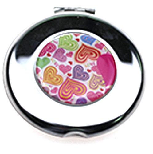 促销化妆镜工厂 韩式金属创意圆形镜