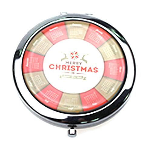 商务礼品小镜子 圣诞礼品 圆形镜定制