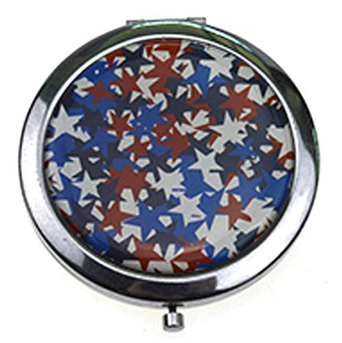 折叠化妆镜 印象派铁质化妆镜 便携赠品镜定制
