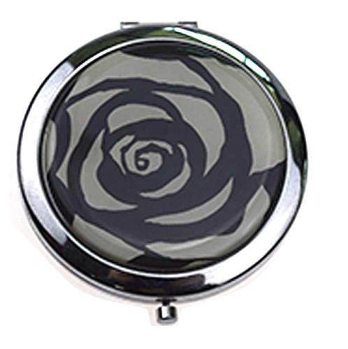铁质化妆镜 玫瑰花贴纸不锈铁礼品镜 LOGO定制