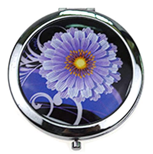 上海随身化妆镜厂家    金属折叠双面镜定制