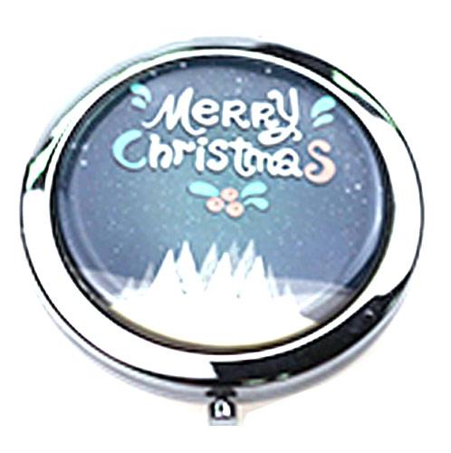 厂家促销折叠随身镜 时尚不锈铁圆镜