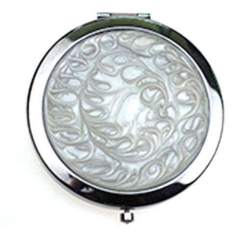 金属折叠化妆镜  外贸不锈铁随身小镜子