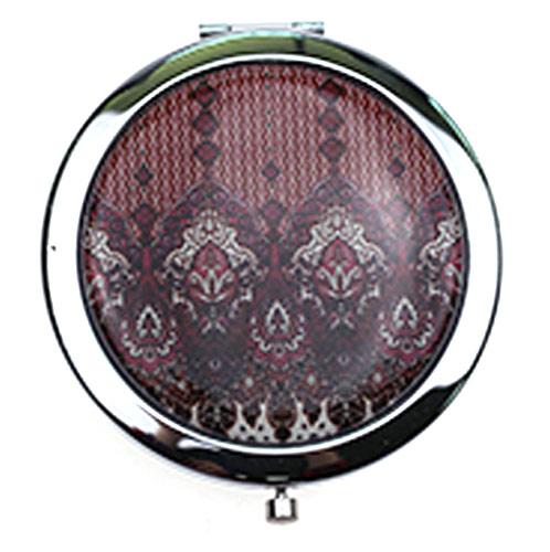 厂家定制金属铁质随身镜 时尚滴胶圆形小镜子