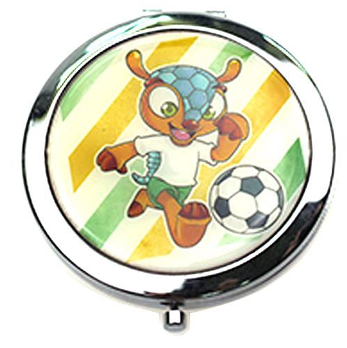 卡通赠品铁质随身镜 金属圆形礼品镜