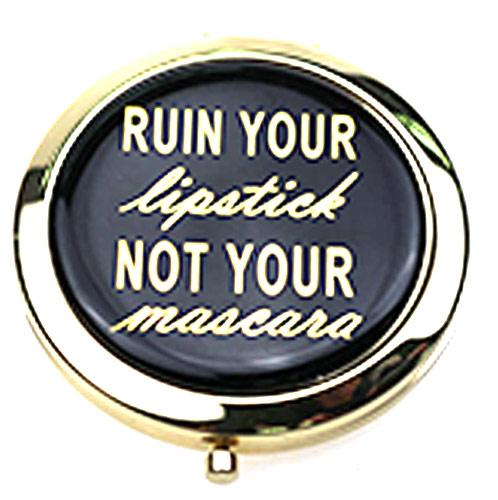 圆形滴胶化妆镜  金属化妆镜双面折叠随身美容镜
