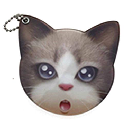 卡通猫头不碎镜 不碎镜 不锈钢镜子定做化妆镜