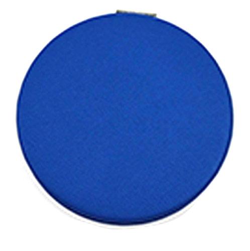 蓝色折叠化妆镜 PU皮革双面折叠小镜子 迷你梳妆镜
