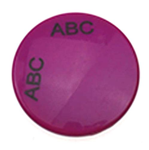玫红圆形折叠化妆镜  小镜子双面镜定制厂家