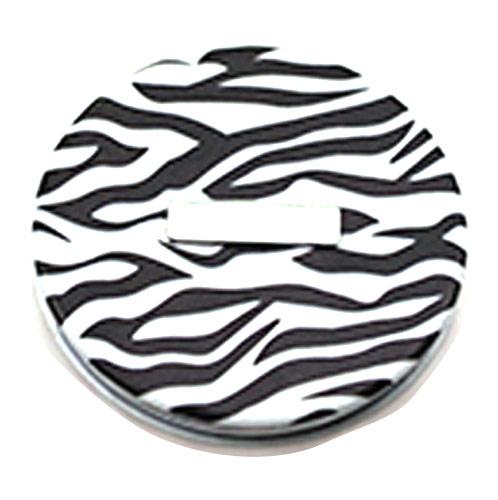 黑白水纹图PU皮革化妆镜  创意PU补妆镜子 厂家定制