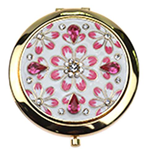厂家定制金属镶钻化妆镜 不锈铁镶钻小镜子