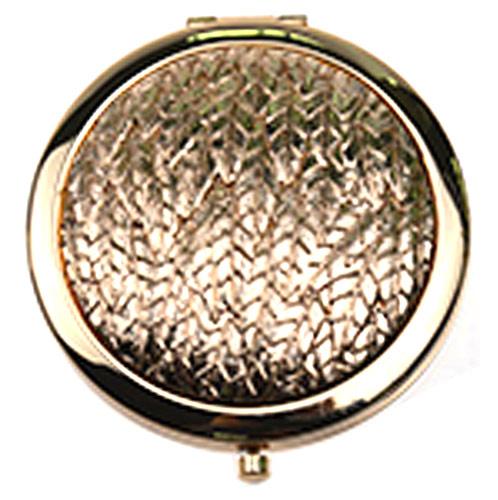 创意不锈铁化妆镜 厂家定做复古金属折叠化妆镜