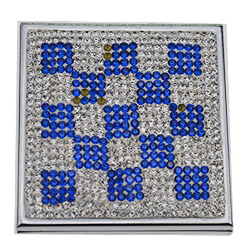 方形镶钻随身镜生产  双面镶钻随身镜定制