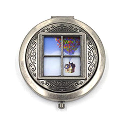 不锈铁镂空复古化妆镜  滴胶面盖双面镜定制