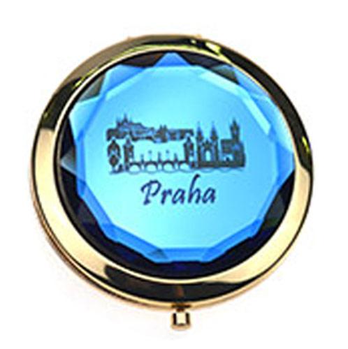 金属水晶化妆镜定制  环保出口小镜子厂家