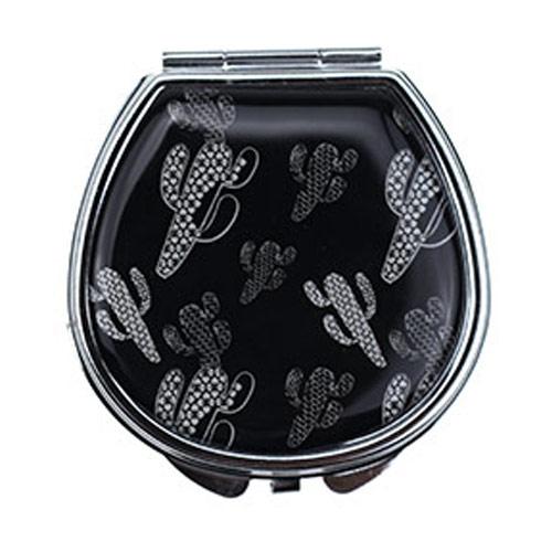 厂家直销PU皮革化妆镜 简易双面小镜子定制