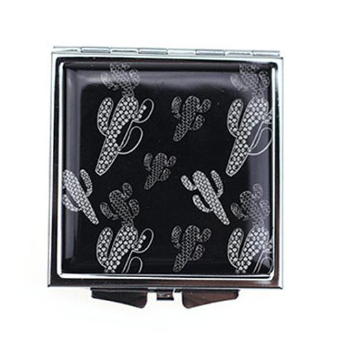 厂家定制方形滴胶化妆镜 高清双面随身折叠镜