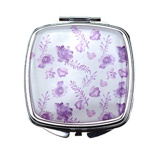方形滴胶金属化妆镜   双面环保礼品镜定制