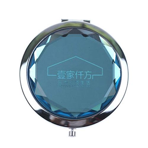 水晶随身化妆镜定制  折叠水晶折叠镜厂家