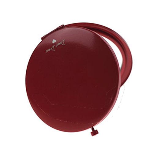 红色金属化妆镜 圆形精致化妆镜定制