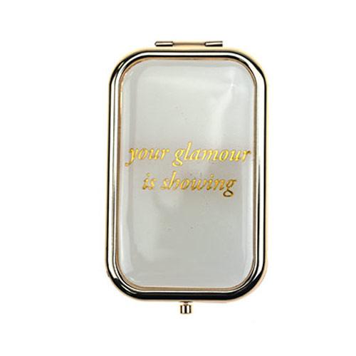 定制滴胶方形化妆镜 方形不锈铁化妆镜