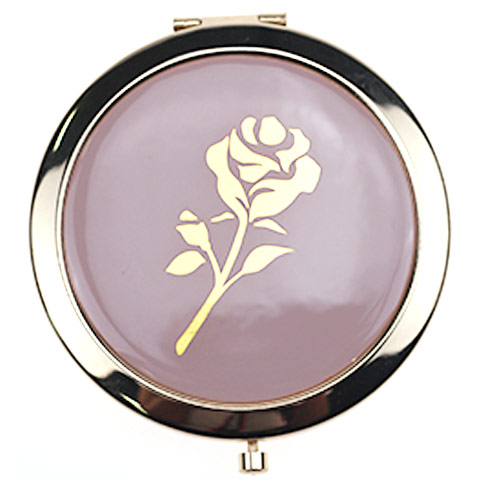 厂家定制滴胶双面化妆镜 礼品小镜子直销