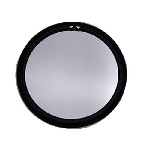 单面金属化妆镜定制厂家  黑色布艺单面随身镜