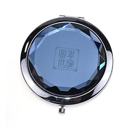 双面水晶化妆镜定制  金属水晶小镜子女士美容镜