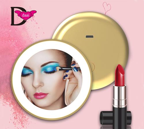 大爱饰家LED单面化妆镜 美妆镜带led灯便携补妆镜子