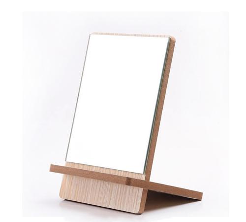 组装式木质台镜定制 大爱饰家木板台式镜子