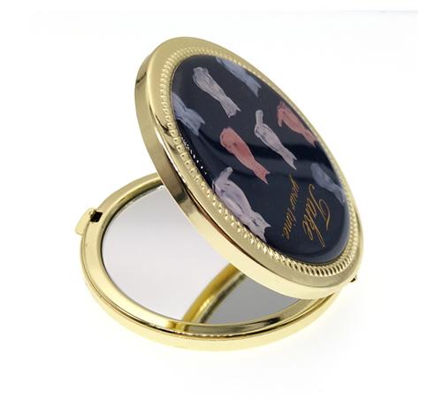 圆形折叠随身镜厂家定制礼赠品小镜子随身补妆化妆镜