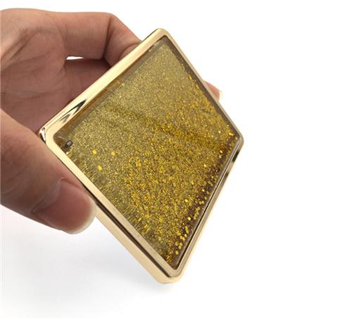 商务礼品化妆镜厂家定制金属单面流沙镜精美礼赠品小镜子