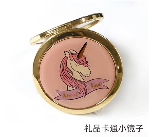 圆形折叠随身镜精美商务礼品圆形小镜子定制便携化妆镜