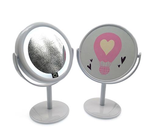 桌面化妆梳妆镜子台式LED化妆镜迷你小台镜单面补光镜