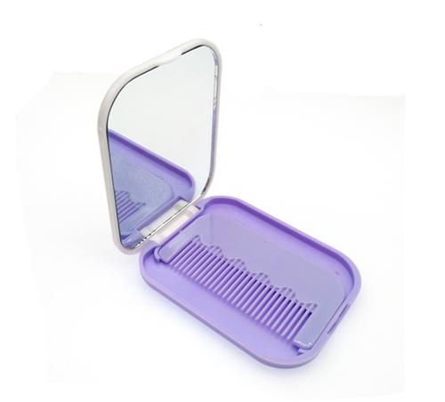 礼赠品塑料镜梳套装定制小礼品镜子梳子组合便携梳妆镜